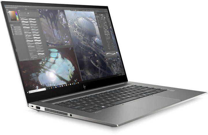 """Слика на Лаптоп HP ZBook Studio G7, 15,6 """"Full HD, Intel Core i7, 16 GB RAM DDR4, 512 GB SSD, NVIDIA Quadro T1000 Max-Q, сребрено / сиво"""