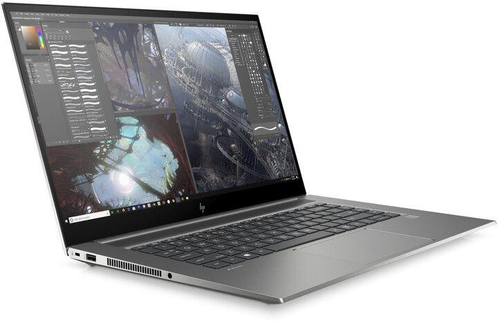 """Слика на Лаптоп HP ZBook Studio G7, 15,6 """"FHD, Intel Core i7, 16 GB RAM DDR4, 512 GB SSD, NVIDIA Quadro T1000 Max-Q, сребрено / сиво"""